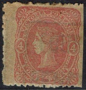 VICTORIA 1860 QV BEADED OVAL 4D WMK 'FOUR PENCE'