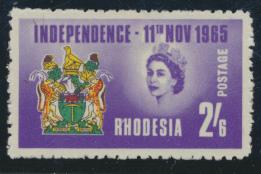 Rhodesia   SG 358  SC# 207   MH Independence 1965  see details