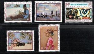 French Polynesia PaintingsByArtistsByLivingInPolynesia MNH 1970