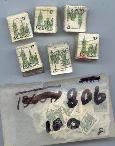Canada - 1979 17c Parliament Coil X 4000 used #806