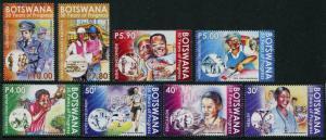 HERRICKSTAMP NEW ISSUES BOTSWANA Sc.# 1000-07 50 Years of Progress Mint NH