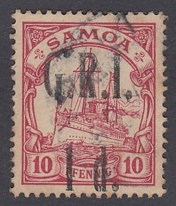 SAMOA 1914 GRI opt on German Samoa : 1d on 10pf used ........ ..............C490