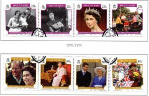 Isle of Man Sc 1133a-4d 2006 80th Birthday QE II stamps used