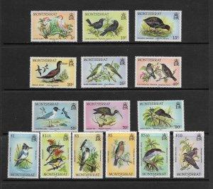 BIRDS - MONTSERRAT #524-38  MNH