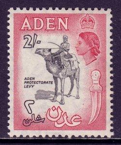 Aden - Scott #57A - MH - Lt. crease LR corner - SCV $9.50