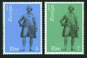 Ireland 339-340,MNH.Michel 302-303. EUROPE CEPT-1974.Edmund Burke by John Foley.
