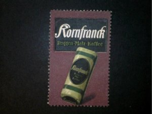 German Poster Stamp - Kornfranck Coffee Advertising Stamp - No Gum
