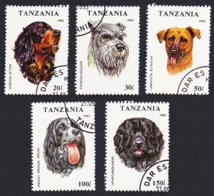 Tanzania Dogs 5v CTO SG#1681-1685 SC#1144-1148