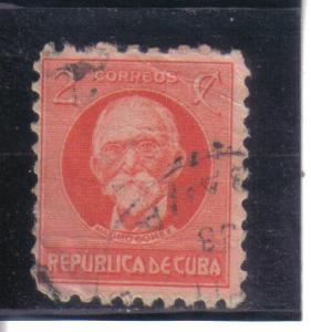 Cuba #309 used avg. dmg, heavy crease.