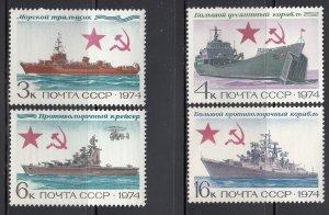 Russia, Sc 4223-4226, MNH, 1974, Soviet Warships
