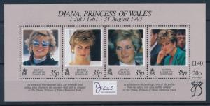 [95300] British Antarctic Territory 1998 Royalty Princess Diana Sheet MNH