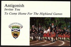 QSL QSO RADIO CARD Photo of Highland Games, Antigonish, Nova Scotia (Q2726)
