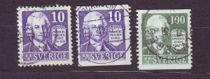 J22835 JLstamps 1938 sweden set used #264-7 swendenborg