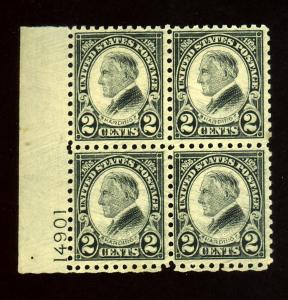612 MINT Plate Block F-VF OG NH Cat $500