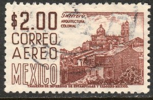 MEXICO C220H, $2P 1950 Definitive 2nd Ptg wmk 300 PERF 11 USED F-VF (1385)