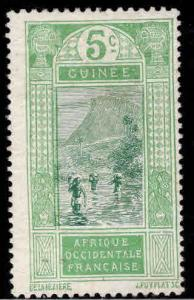 FRENCH GUINEA Scott  66 MH*stamp Thinned