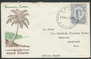 TONGA 1947 cover VAVAU to New Zealand......................................44704