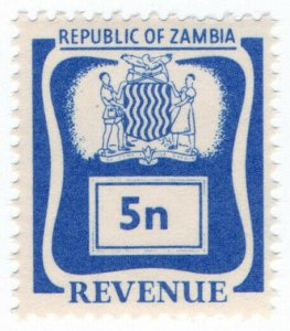(I.B) Zambia Revenue : Duty Stamp 5n
