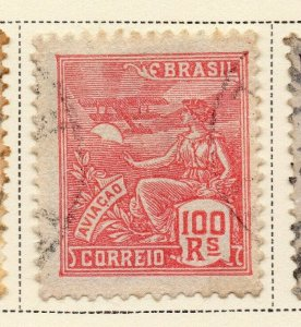 Brazil 1920-21 Early Issue Fine Used 100r. NW-12017