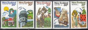 New Zealand, Sc # 739-743, MNH, 1982, Events