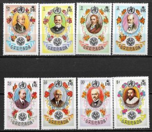 1973 Grenada 507-14 WHO 25th Anniversary C/S MH