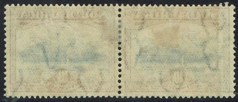 SOUTH AFRICA 1927 TABLE MOUNTAIN 10/- PAIR USED