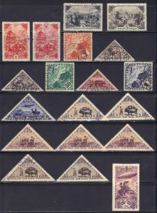 Tannu Tuva and Mongolia collection of 54 CTO/Used issues - 3 scans