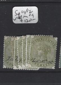 ZANZIBAR  (PP0809B) QV ON INDIA 4A     SG  11, 12   X 10      ASST  MOG