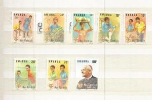 RWANDA 1983 SCOTT 1150-7 MNH