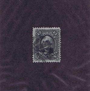 SC# 97 USED 12c WASHINGTON, 1867, LEAF FANCY CANCEL, PSE CERT GRADED VF 80