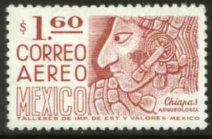 MEXICO C474, $1.60 1950 Defin 9th Issue Unwmk Fosf Glazed. MINT, NH. F-VF.