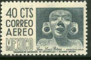 MEXICO C220D, 40cs 1950 Def 6th Issue Fosforescent unglazed. MINT, NH. F-VF.