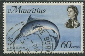 Mauritius - Scott 351 - QEII Pictorial Definitives -1969 -Used -Single 60c Stamp