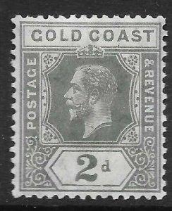 GOLD COAST SG74a 1920 2d SLATE-GREY MTD MINT