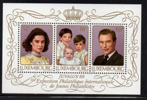 Luxembourg Sc 786 1988 Royal Family  stamp sheet mint NH