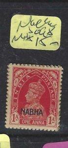 INDIA  NABHA    (P2107B)   KGVI    1A     SG   98   MOG