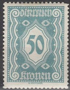 Austria #J117 F-VF Unused (S365)