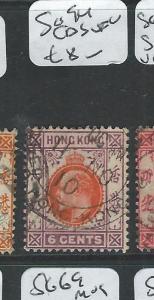 HONG KONG  (P2407B) KE 6C SG 94   CDS   VFU