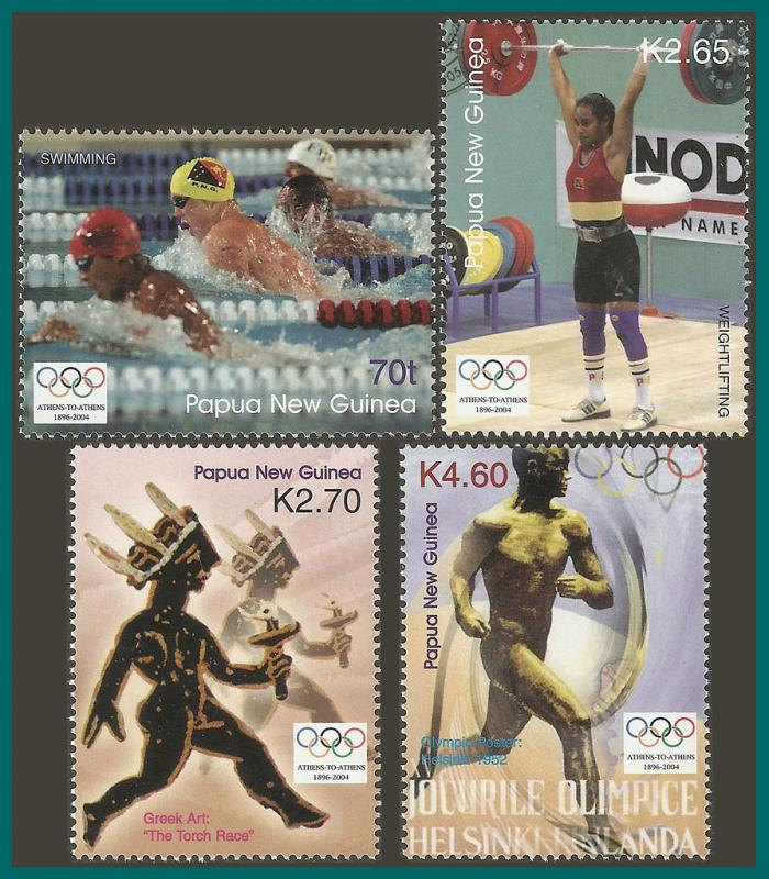 Papua New Guinea MNH 1132-5 Olympic Games 2004