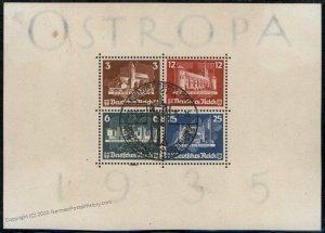 Germany 1935 OSTROPA Block 3 Souvenir Sheet Koenigsburg Prussia Used 97344
