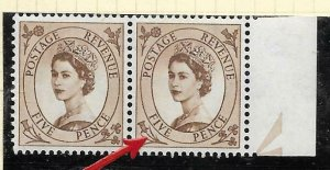 S101b 5d Wilding multi crowns variety - spot on Daffodil UNMOUNTED MINT
