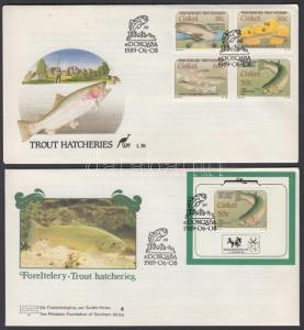 South Africa Ciskei stamp Trouts 2 FDC Cover 1989 Mi 153-156 + 4 WS142799