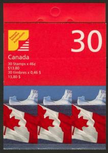 Canada 1698a Booklet BK215Ba MNH Flag over Iceberg