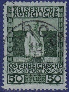 Austria - 1908 - Scott #121 - used - ARCO pmk Italy