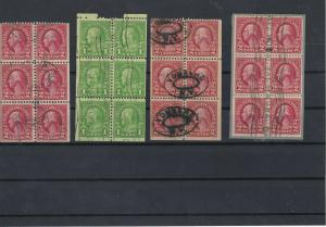 United States Franklin+Washington Used  Stamps Panes Ref: R6031
