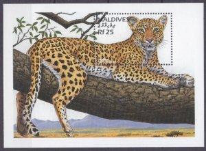 1996 Maldive Islands 2716/B373 Cats - Panther 7,50 €