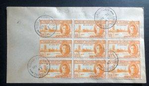1947 Tortola British Virgin Island Souvenir Cover Victory Stamp B