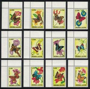 Sierra Leone Butterflies 12v Corners SG#1999-2010