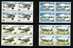 BIOT-Sc#136-9- id5-unused NH set in blocks of 4-Planes-RAF-Aircraft-1993-