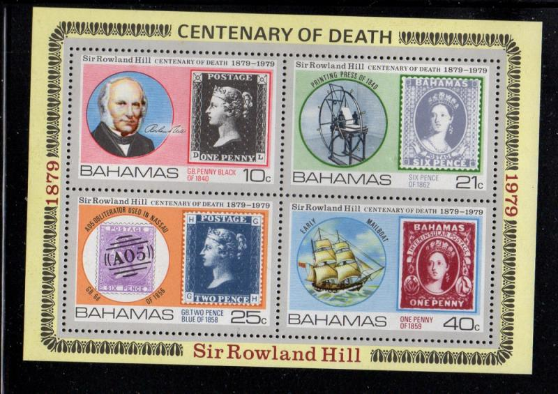 Bahamas Sc 453a 1979 Death of Hill stamp sheet mint NH